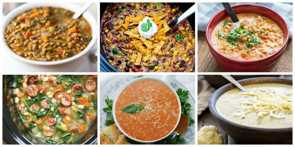 Comforting Slow Cooker Meals - Soups #crockpot #slowcooker #soup #slowcookersoups #crockpotsoups #crockpotmeals #slowcookermeals