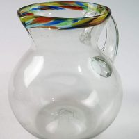 Mexican Glass Pitcher