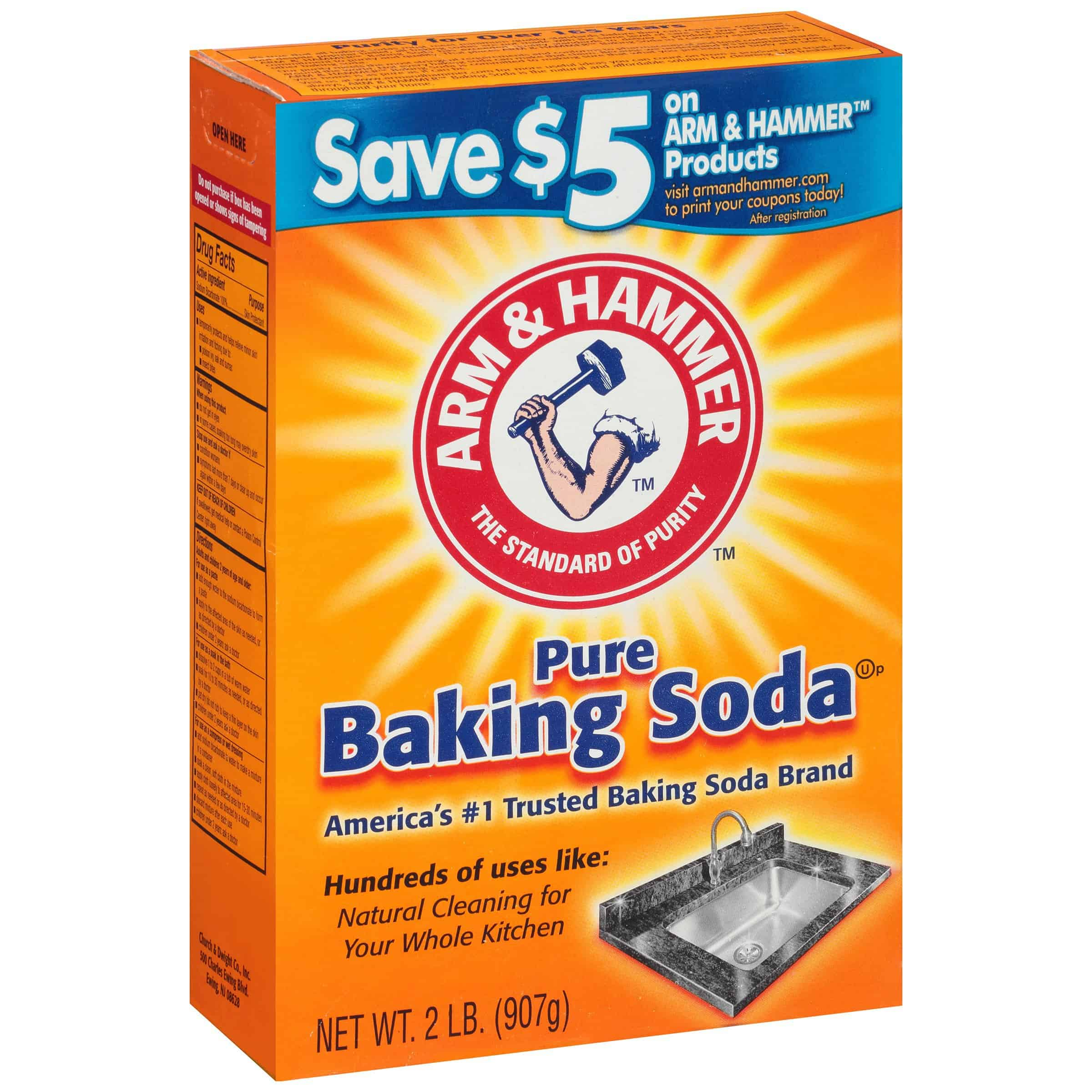 Arm & Hammer Pure Baking Soda, 2 lb - Walmart.com