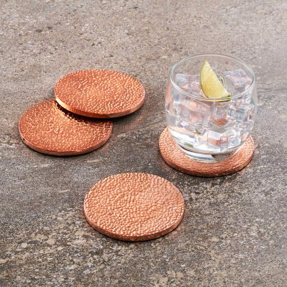 HammeredCopper Drink Coasters