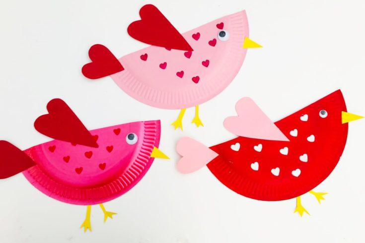 Little Love BirdsValentines Craft for Kids