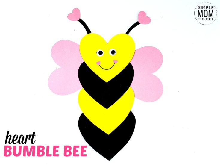 Easy Valentine's Day Bumble Bee Paper Craft