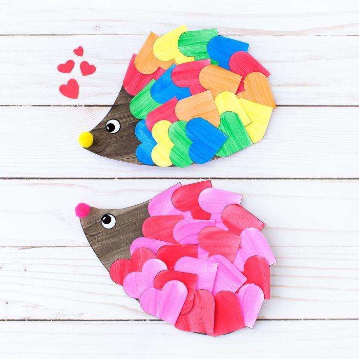 Valentine Hedgehog Craft for Kids