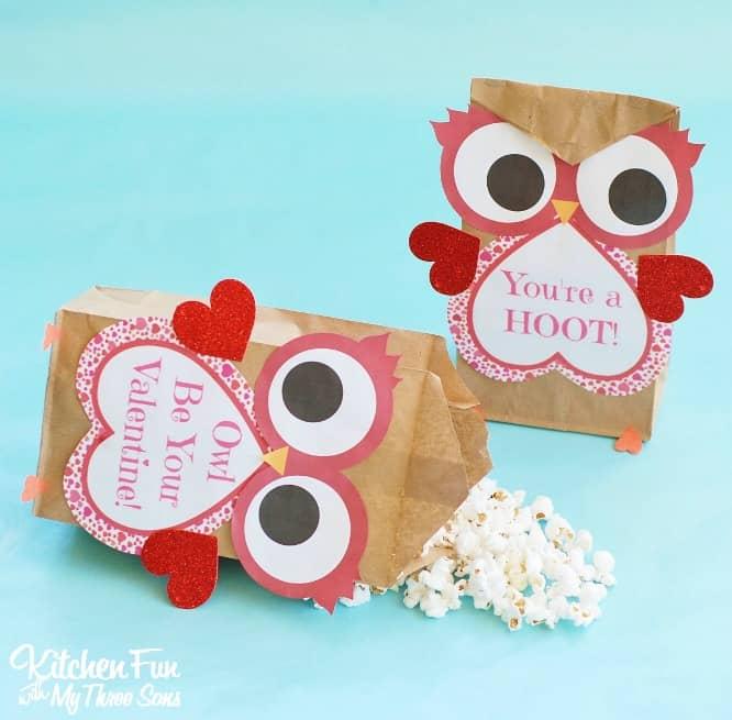 Paper Treat BagsValentine Owl Craft