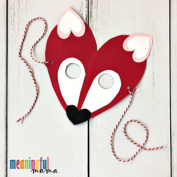 Valentine's Day Fox Mask Craft for Kids