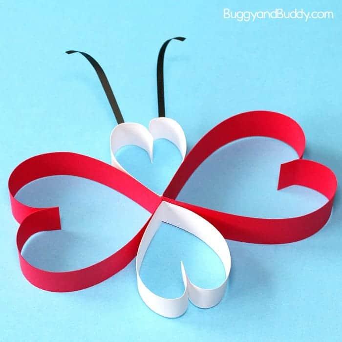 Paper Heart Butterfly Craft