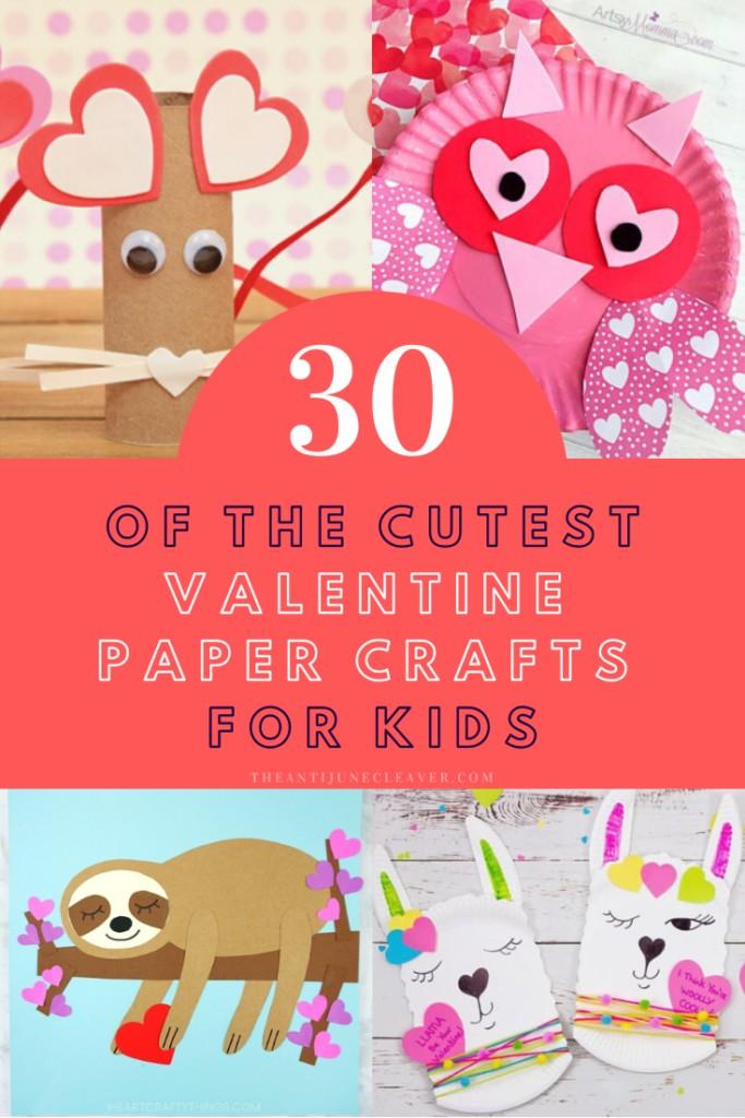 Valentine Paper Crafts for Kids
