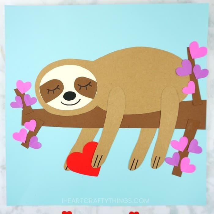 Valentine Sloth Paper Craft