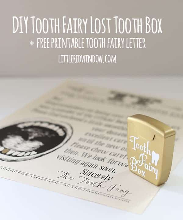 DIY Tooth Fairy Lost Tooth Box