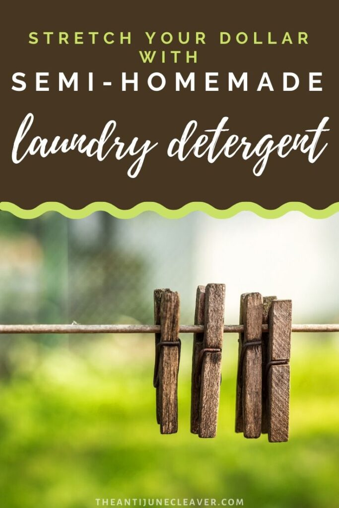 Semi-Homemade Laundry Detergent