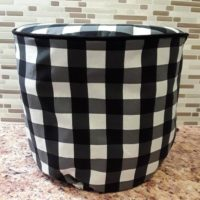 Instant Pot Cover / Black and white Buffalo Check