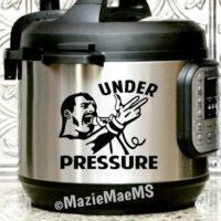 UNDER PRESSURE, Freddie Mercury, Instant Pot Decal