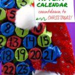 Cardboard tube advent calendar