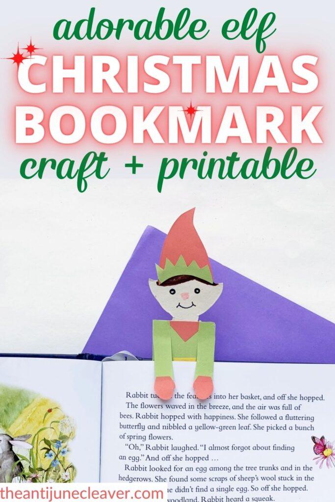 Christmas elf bookmark craft