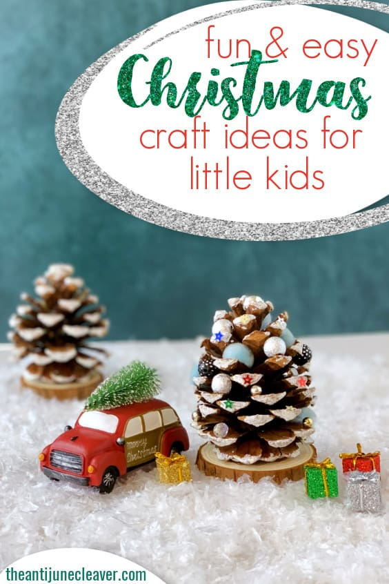 Christmas pine cone craft for kids