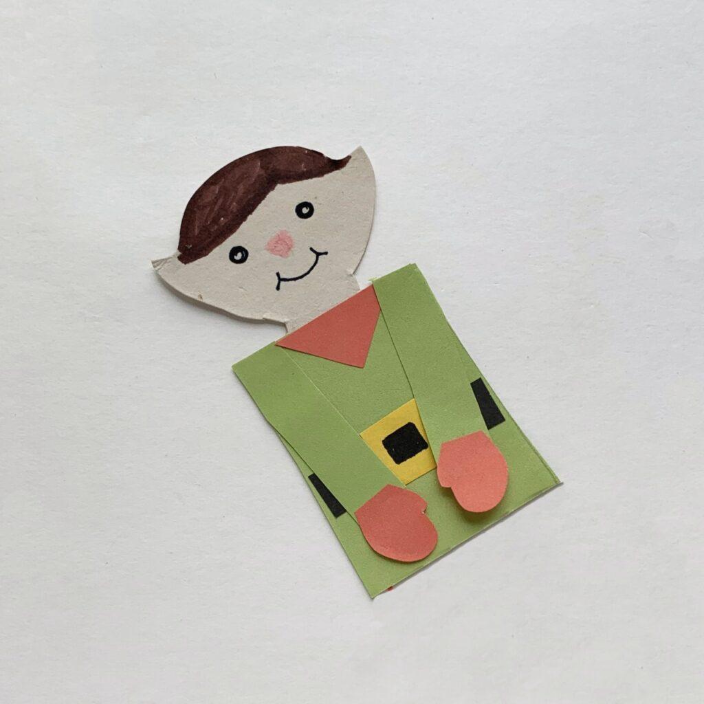 Holiday elf bookmark
