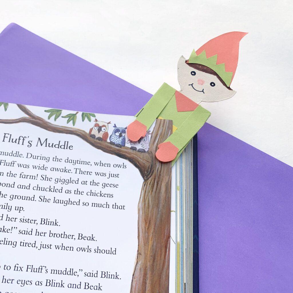 Paper elf bookmark