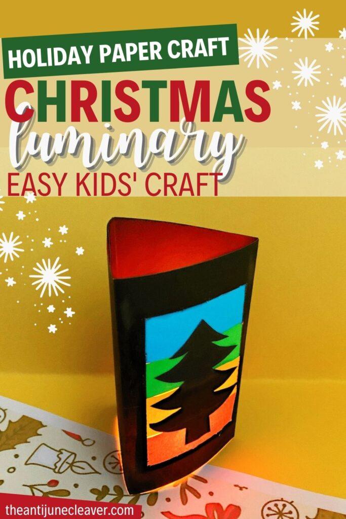 Christmas tree kids' paper craft
