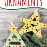 DIY craft stick Christmas ornaments