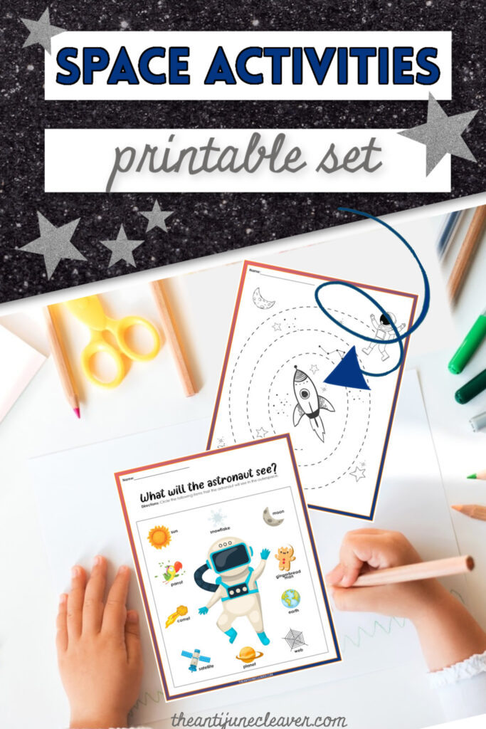 Space activity printables for kids