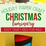 Tissue paper Christmas tree craft