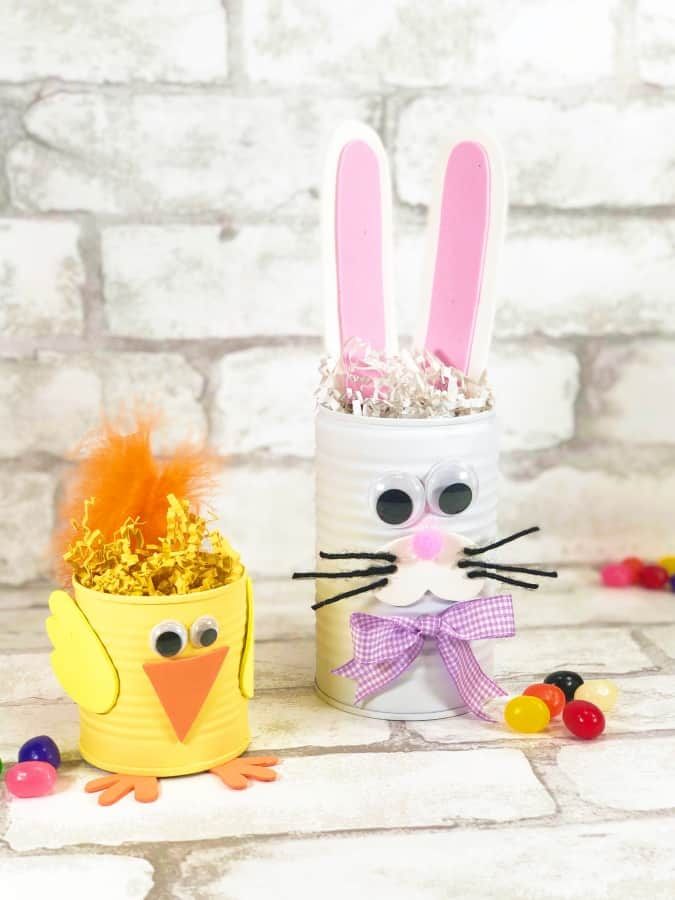 Tin Can Easter Bunny & Chick Kids' Craft