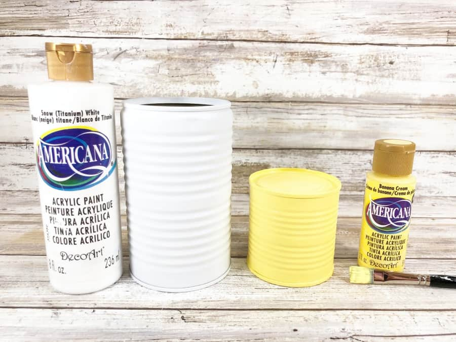 how to paint tin cans