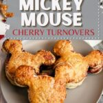 Disney Mickey Mouse puff pastry cherry turnovers