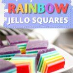 Layered Jello cubes recipe
