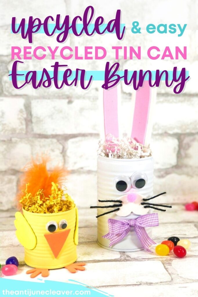 Recycled Can Easter Craft for Kids