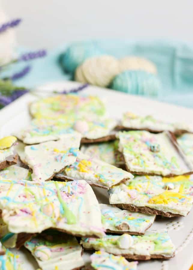 White chocolate Easter Bark Recipe