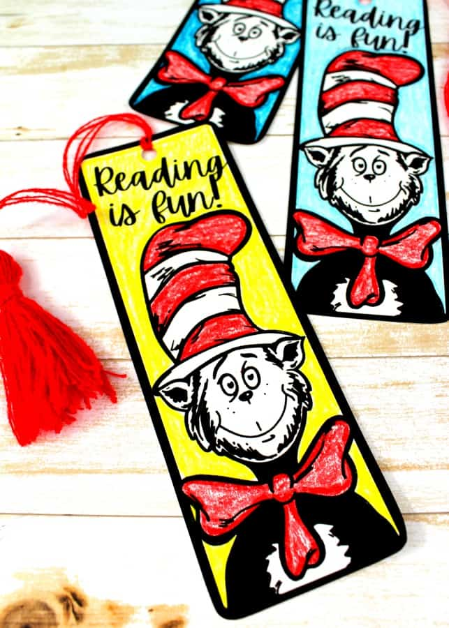 Cat in the Hat bookmark printables