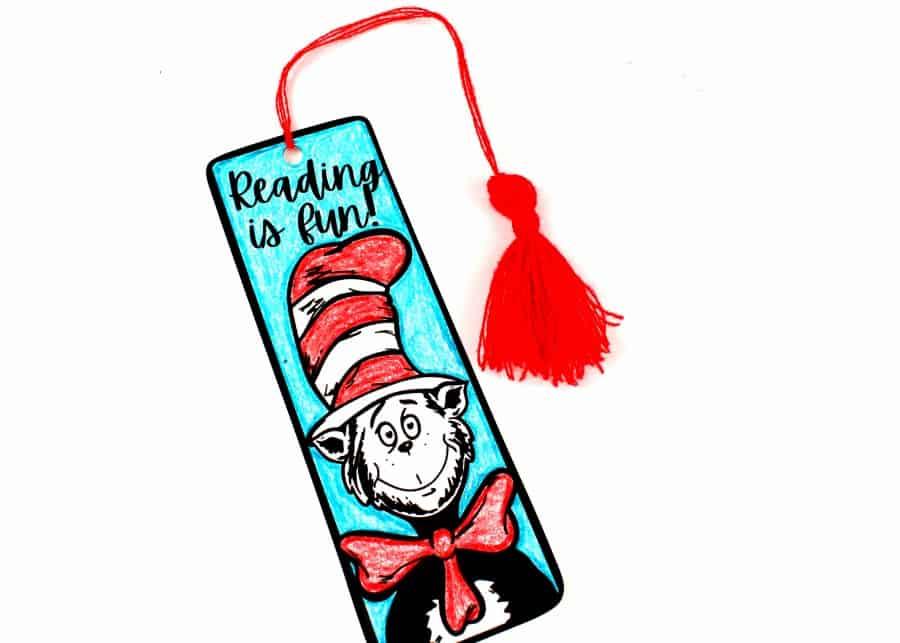 How to make a Dr. Seuss bookmark
