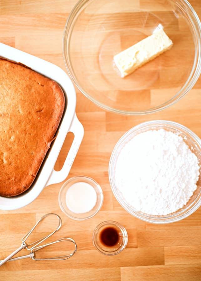 Cake ball ingredients