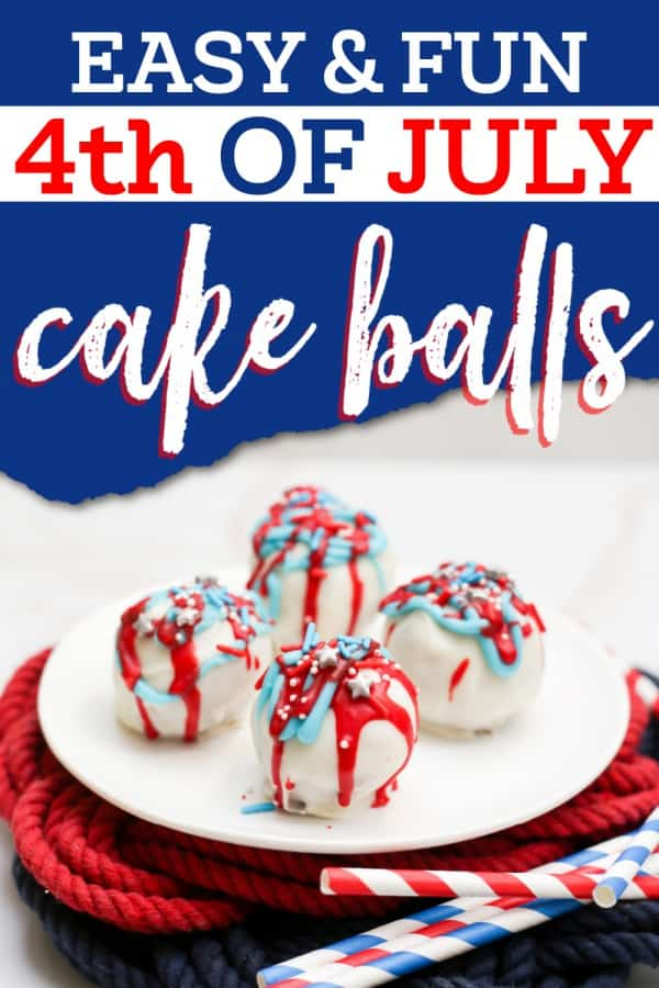 July 4th cake ball truffles