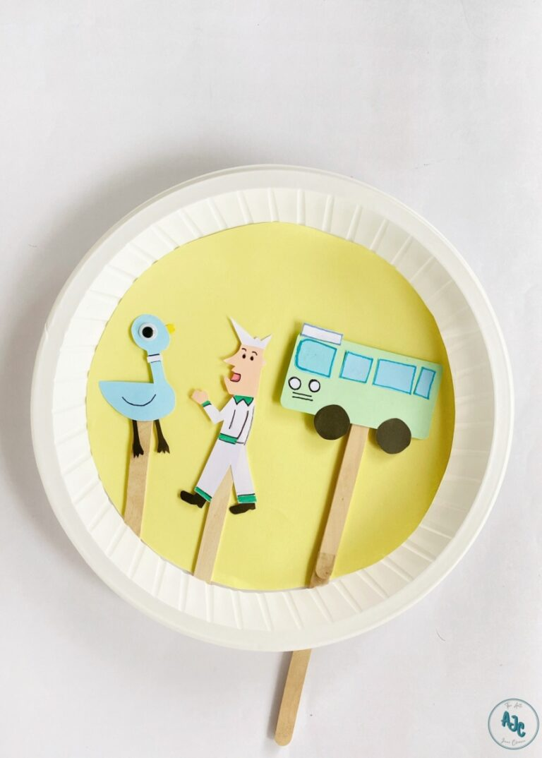 Moveable Paper Plate Don't Let the Pigeon Drive the Bus Craft