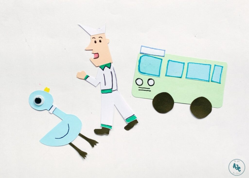 Don't Let the Pigeon Drive the Bus paper craft