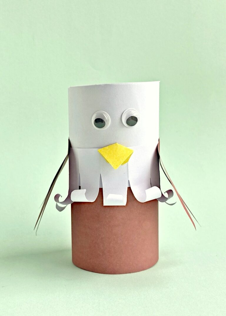 Bald Eagle Toilet Paper Roll Craft