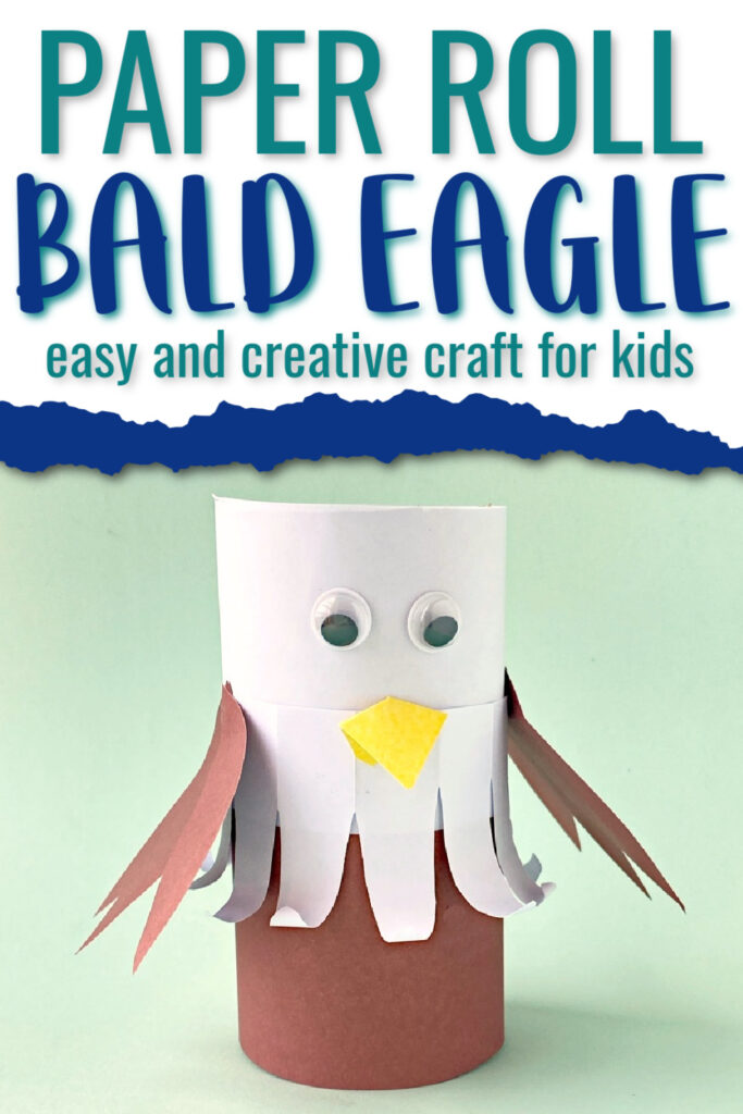 Eagle patriotic paper roll craft