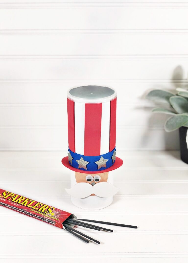Uncle Sam Pringles Can July 4th Craft for Kids