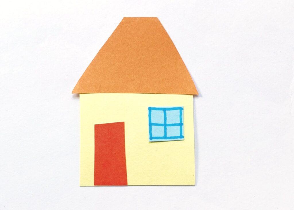 Grandma's house paper craft