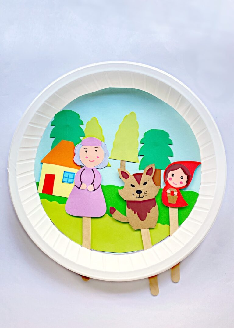 Moveable Paper Plate Little Red Riding Hood Craft