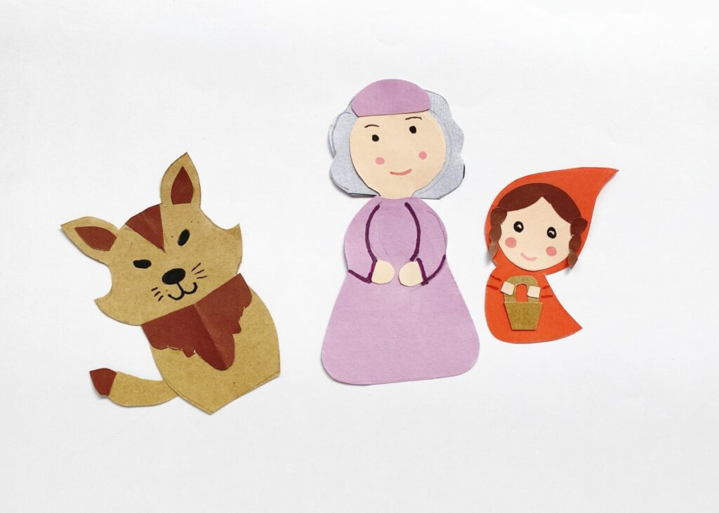 Little Red Riding Hood Paper Puppets
