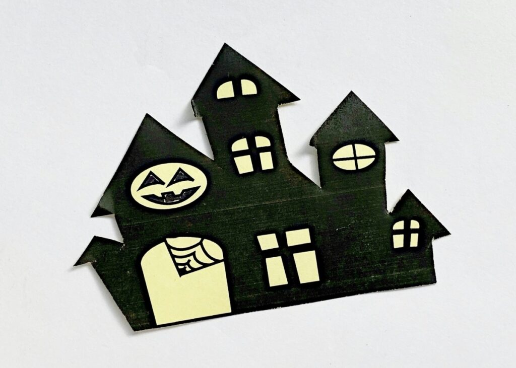 Halloween haunted house stencil