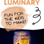 Halloween mason jar craft DIY luminary