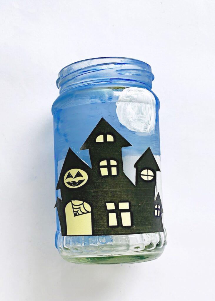 Haunted house kids craft