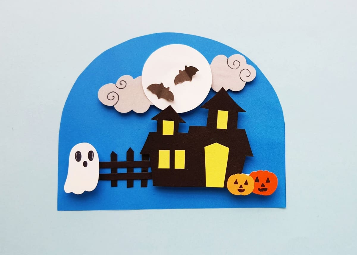 3D Haunted house paper craft
